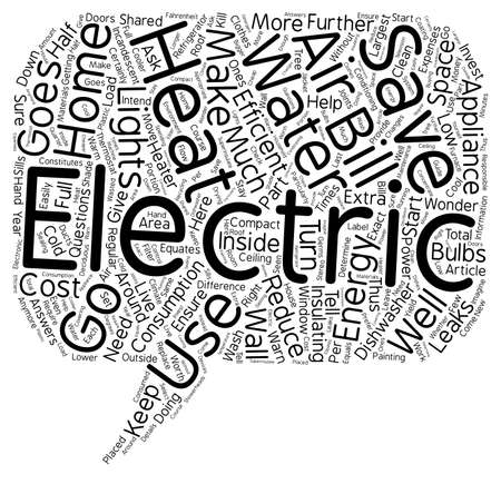 energy use: home energy use text background wordcloud concept