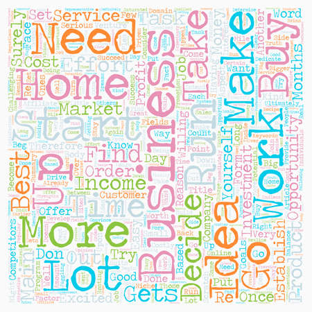 ultimately: Home Business Ideas Opportunities text background wordcloud concept