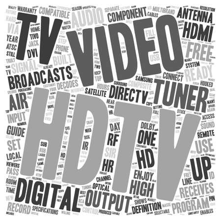 hdtv: hdtv tuners text background wordcloud concept