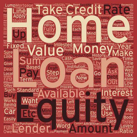 equidad: Texto del hogar préstamo wordcloud concepto de fondo