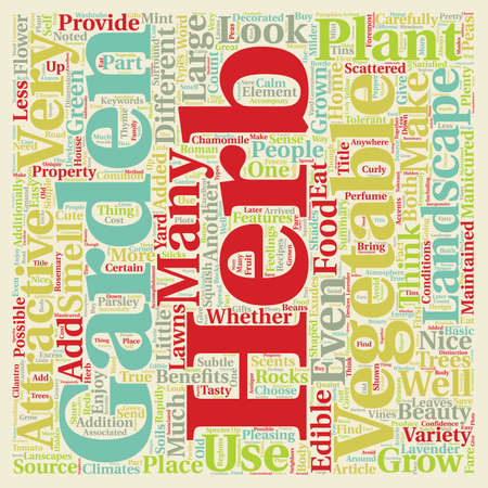 Herb And Vegetable Gardens Are Lanscapes Too text background wordcloud concept