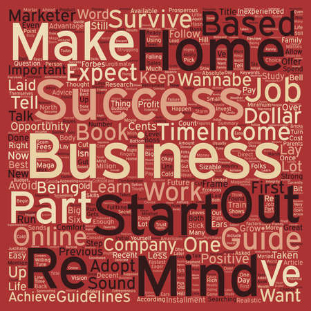 Home Based Business A Wannabe s Survival Guide Part 3 text background wordcloud concept