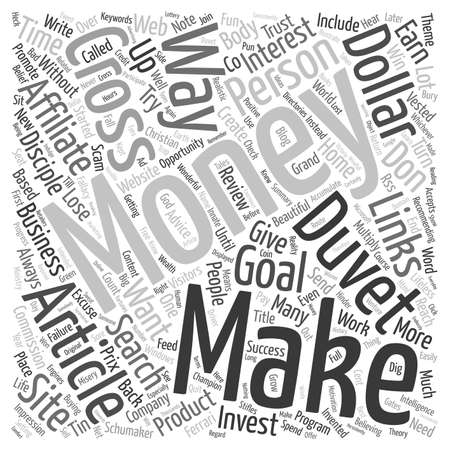 vested: Does Money Make Money text background wordcloud concept