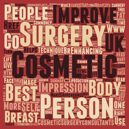 general: General Cosmetic Surgery text background wordcloud concept Illustration