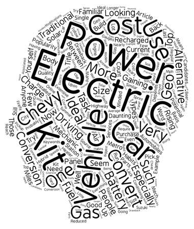 Electric Vehicle Kits Build Your Own Electric Car Text Background