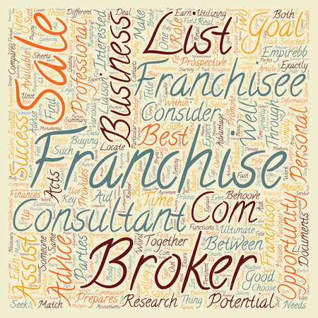 consider: Franchise Business Opportunities What Is The Role Of A Franchise Broker text background wordcloud concept