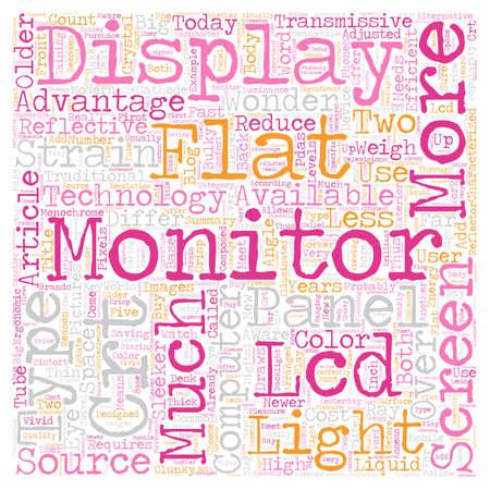 flat screen: Flat Screen Monitors A Technological Wonder text background wordcloud concept