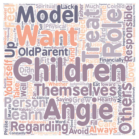 want: Do You Want Your Children to Be Like You text background wordcloud concept Illustration