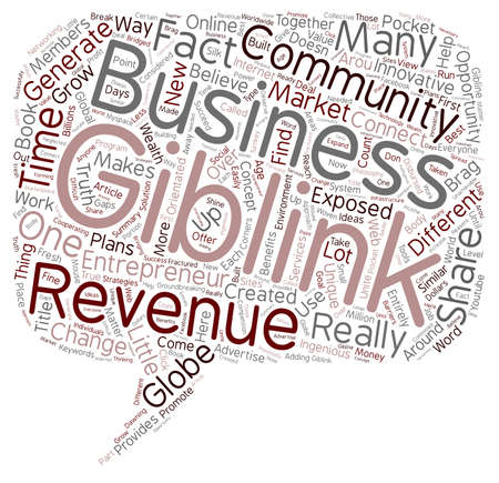 exposed: Giblink Revenue Opportunities Exposed text background wordcloud concept
