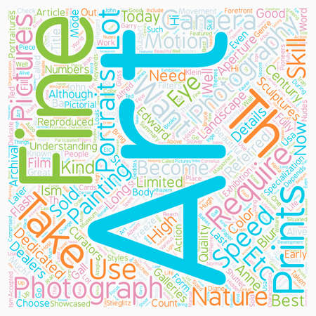 requires: Fine Art Photography text background wordcloud concept