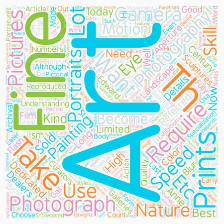 fine art: Fine Art Photography text background wordcloud concept