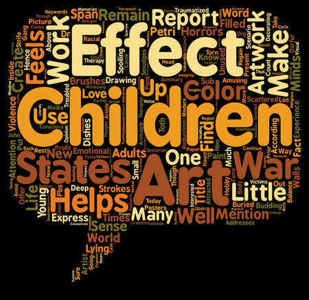 petri: Effects Of Children Art Work In Their Life text background wordcloud concept