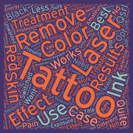 unwanted: Do you want your tattoo removed the laser way text background wordcloud concept