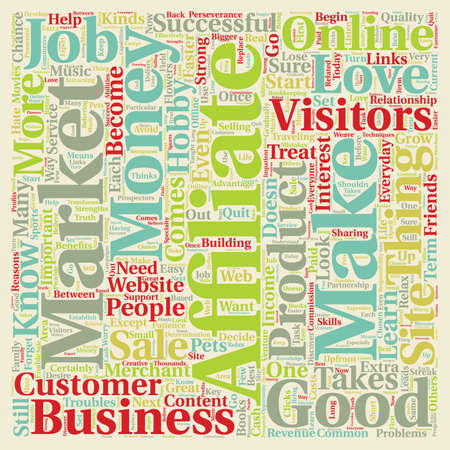 Do You Have What It Takes To Be An Affiliate Marketer text background wordcloud concept