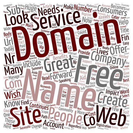 Domain Name Free Services Where To Get Them text background wordcloud concept