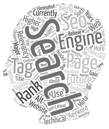 page rank: Future Relevancy or Page Rank text background wordcloud concept