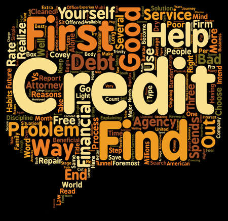 poverty: Good Credit vs Bad Credit text background wordcloud concept