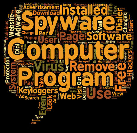 spyware: free spyware text background wordcloud concept