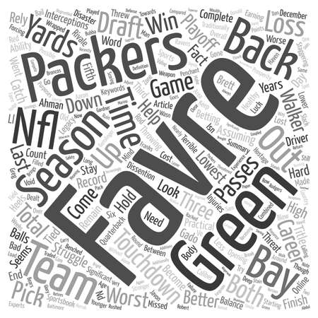 Favre s Back But Will It Help the Packers text background wordcloud concept