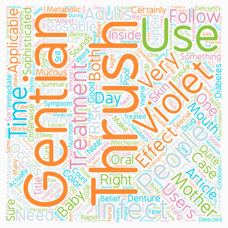 Gentian Violet An Effective Treatment For Thrush text background wordcloud concept