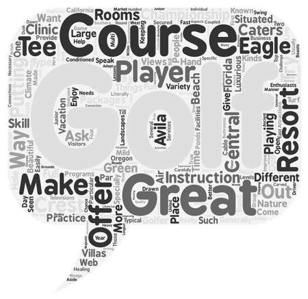 come: golfresort text background wordcloud concept