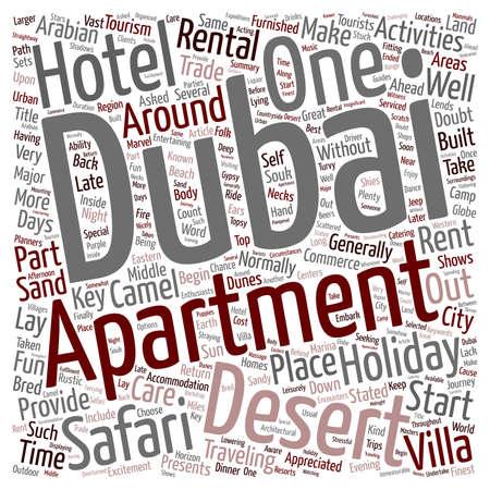 appreciated: Dubai s Great Desert Safari text background wordcloud concept