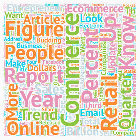 Ecommerce in 2007 and Beyond text background wordcloud concept