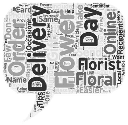 make summary: Flower Delivery With Ease text background wordcloud concept