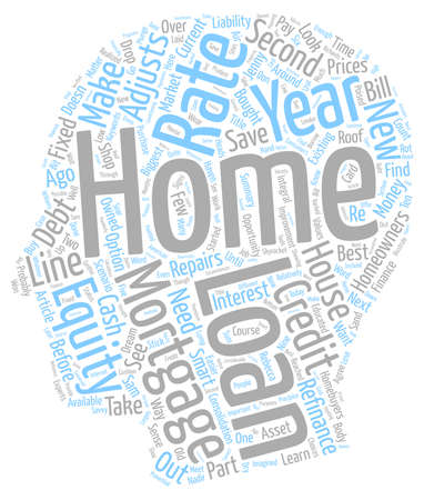Educated Consumers Can Save Money on Mortgages text background wordcloud concept 向量圖像