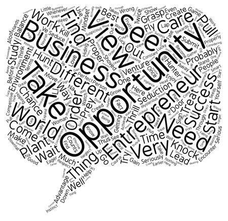 business opportunity: entrepreneur business opportunity text background wordcloud concept