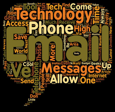 hype: Email To Telephone Innovative Tool Or High Tech Hype text background wordcloud concept Illustration