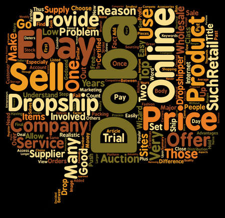 wholesale: Doba Wholesale Supply Why This Drop Ship Company Is Popular text background wordcloud concept Illustration