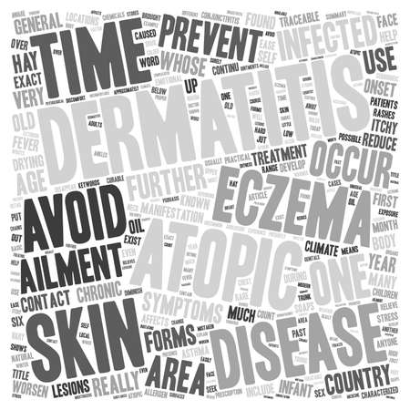 anyone: Eczema Or Atopic Dermatitis Anyone text background wordcloud concept