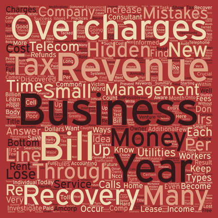 recovery: Find Hidden Money for Your Business Through Revenue Recovery text background wordcloud concept