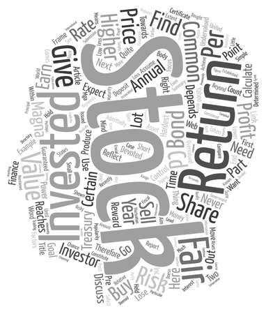 common goal: Fair Value of A Common Stock text background wordcloud concept