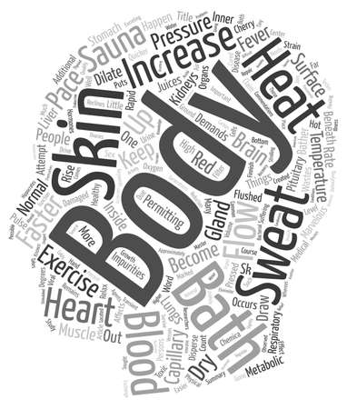 capillaries: Exercise Your Heart With Sauna text background wordcloud concept