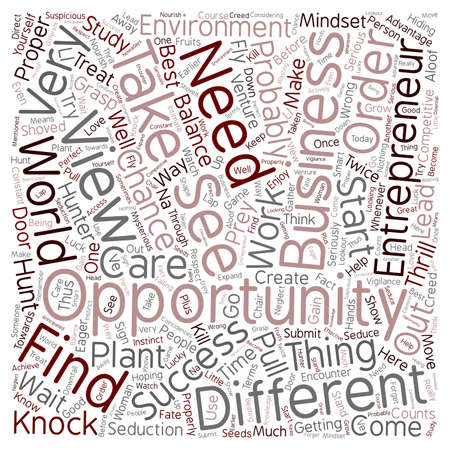 opportunity concept: entrepreneur business opportunity 1 text background wordcloud concept