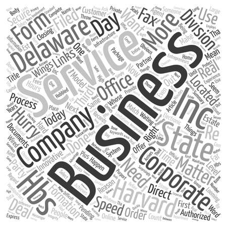 inc: Harvard Business Services Inc Is Hard Wired For Speed text background wordcloud concept