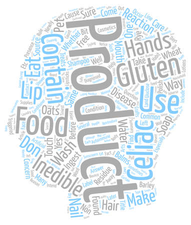 inedible: Gluten Inedible Products text background wordcloud concept