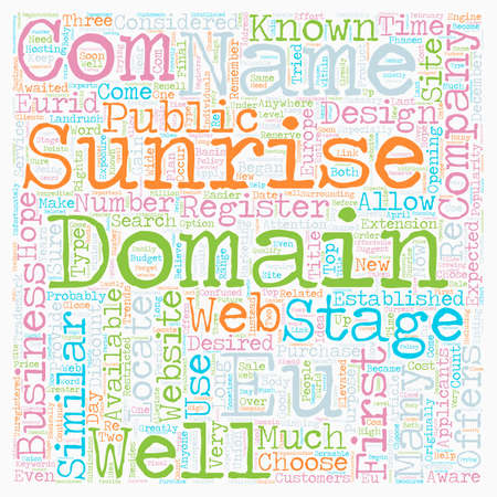especially: EU Domains text background wordcloud concept