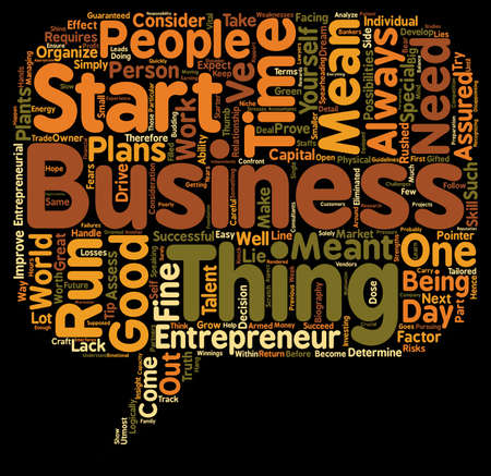 logically: entrepreneur biography text background wordcloud concept Illustration