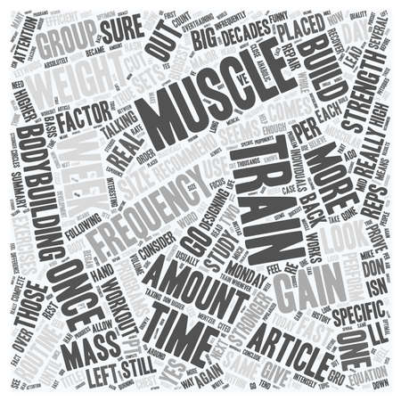 muscle gain: Gain Weight Fast Muscle With High Frequency Pt 1 text background wordcloud concept