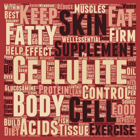preventive: Foods and Supplements that Control Cellulite text background wordcloud concept