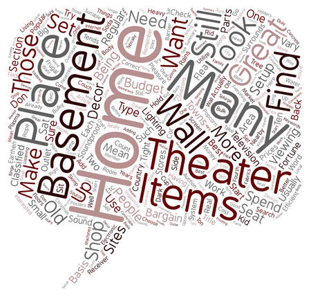 home theater: Efficient Home Theater Setup text background wordcloud concept