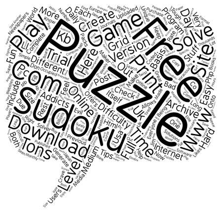 free sudoku puzzle text background wordcloud concept