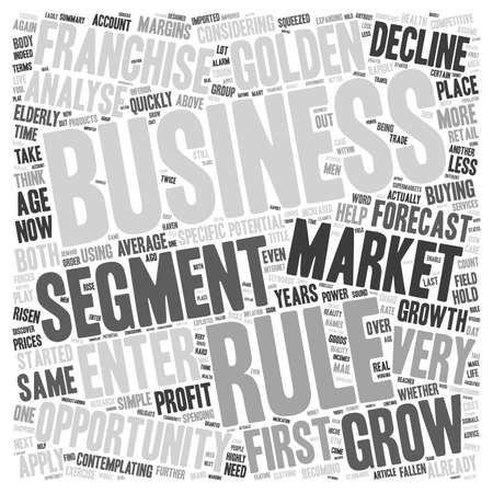 golden rule: Franchise Business Opportunities The First Golden Rule text background wordcloud concept