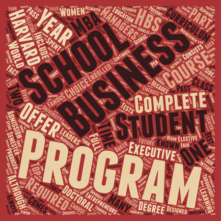 harvard business school 1 text background wordcloud concept Illustration