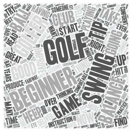 Golf Tips For The Beginner Golfer text background wordcloud concept Illustration