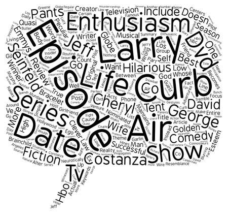 enthusiasm: Curb Your Enthusiasm DVD Review text background wordcloud concept