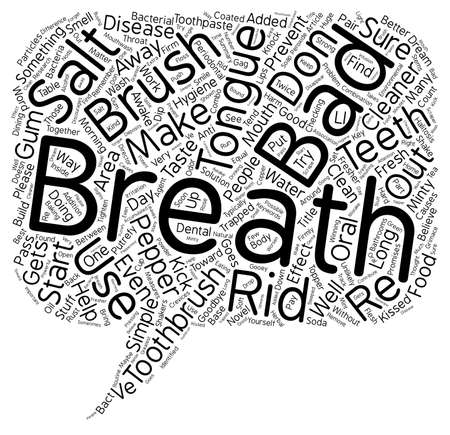 breath: Could A Novel Toothbrush Topper Knock Out Bad Breath text background wordcloud concept Illustration